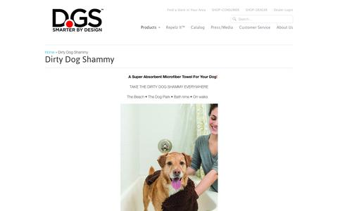 Screenshot of Products Page dgspetproducts.com - Dirty Dog Shammy                           | Dog Gone Smart Pet Products - captured June 26, 2017