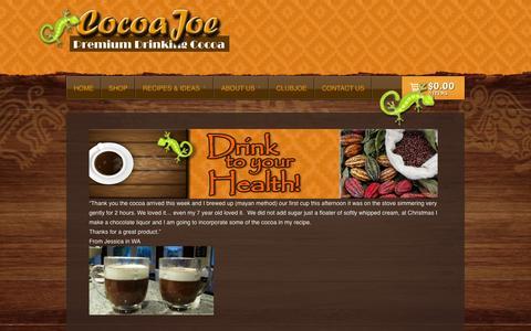 Screenshot of Testimonials Page drinkcocoajoe.com - Testimonials | CocoaJoe - captured Oct. 2, 2014