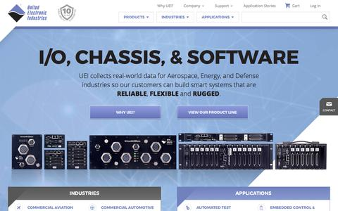 Screenshot of Home Page ueidaq.com - Aerospace, Energy, Defense Data Acquisition & Control  | United Electronic Industries - captured Oct. 19, 2017