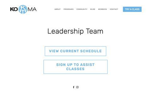 Screenshot of Team Page thekoma.com - Leadership — KOMA - captured Nov. 15, 2018