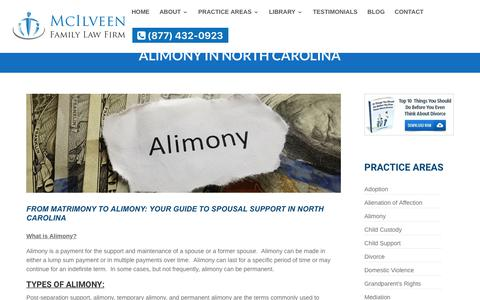 NC Alimony and Spousal Support | McIlveen Family Law Firm