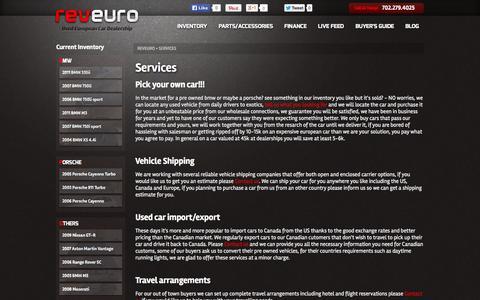 Screenshot of Services Page reveuro.com - Services | RevEuro - captured Oct. 26, 2014