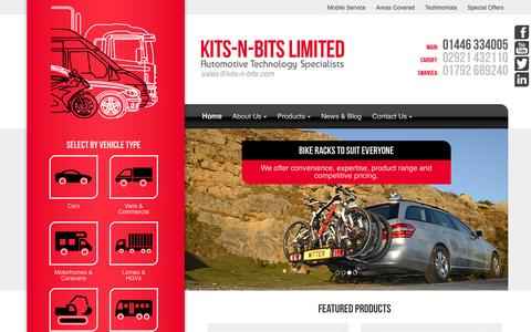 Screenshot of Home Page kits-n-bits.com - Automotive Technology Specialists - South Wales - Kits-n-Bits - captured Jan. 9, 2016