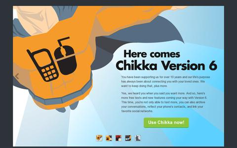 Screenshot of Home Page chikka.com - Chikka - Always the best way to text FREE to the Philippines - captured July 17, 2014