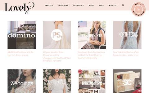 Screenshot of Press Page lovelybride.com - Press | Lovely Bride - captured June 17, 2019