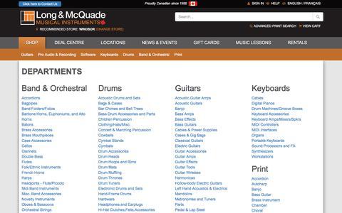 Screenshot of Site Map Page long-mcquade.com - Guitars, Acoustic Guitars, Electric Guitars, Guitar Cases & Cables - captured Sept. 22, 2018