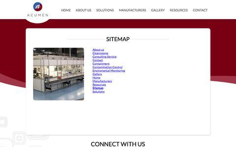 Screenshot of Site Map Page acumentech.biz - Sitemap – Acumen - captured Oct. 7, 2017