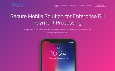 Screenshot of Home Page billing.ms - Wireless Billing - Globally cloud hosted, private, secure bill payment processing platform for Enterprise. - captured Oct. 26, 2018