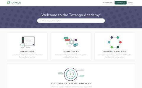 Screenshot of Support Page totango.com - Totango - captured Oct. 6, 2017