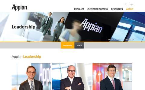 Screenshot of Team Page appian.com - Company Leadership | Appian - captured Oct. 28, 2014