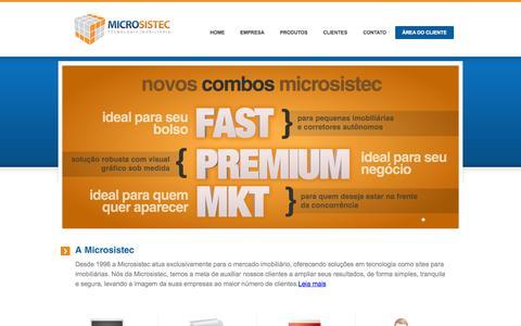 Screenshot of Home Page microsistec.com.br - Site para Imobiliaria - Microsistec! Com a cara da sua imobiliaria! - captured Sept. 19, 2014