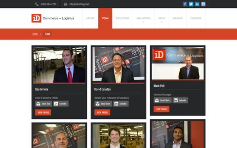 Screenshot of Team Page idcomlog.com - Management Team - iD Commerce + Logistics - captured Oct. 6, 2014