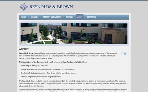 Screenshot of About Page reynoldsandbrown.com - About | Reynolds & Brown - captured Feb. 15, 2016