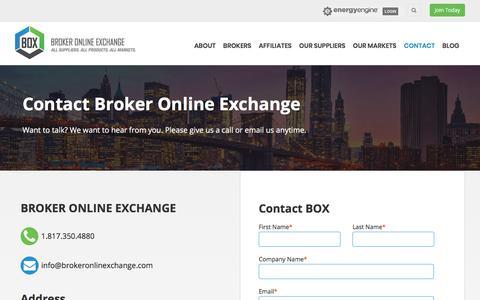 Contact Broker Online Exchange - Your Revolutionary Energy Partner