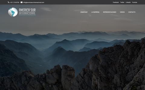 Screenshot of Home Page americasurinternacional.com - America Sur Internacional - captured July 28, 2018
