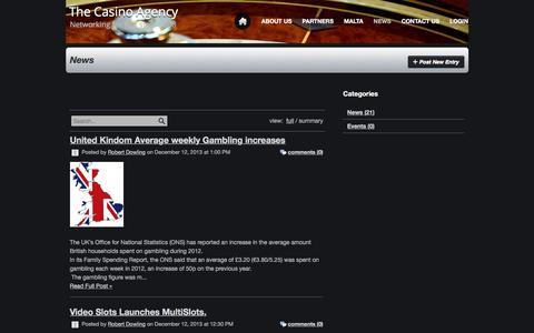 Screenshot of Press Page thecasinoagency.com - News - captured Dec. 13, 2016