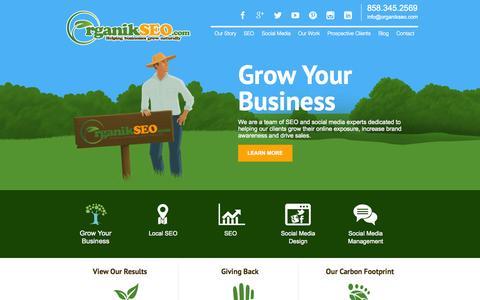 Screenshot of Home Page organikseo.com - Local Search Optimization | Organik SEO | San Diego Internet Marketing - captured Sept. 25, 2014