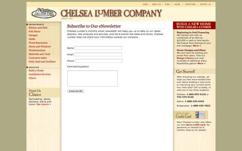 Screenshot of Signup Page chelsealumber.com - Chelsea Lumber - captured Oct. 2, 2014