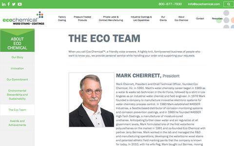 Screenshot of Team Page ecochemical.com - The Eco Team - Eco Chemical™ Wood Stains and Coatings - captured July 16, 2018