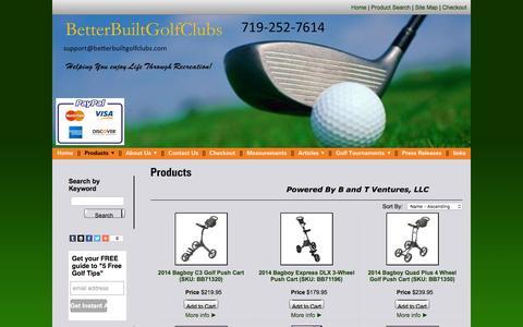 Screenshot of Products Page betterbuiltgolfclubs.com - Custom Golf Clubs Online - Betterbuiltgolfclubs.com - captured Feb. 7, 2016