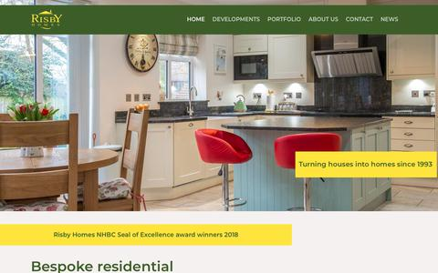 Screenshot of Home Page risbyhomes.co.uk - Risby Homes | Bespoke residential property development - captured Oct. 18, 2018