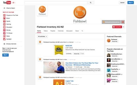 Screenshot of YouTube Page youtube.com - Fishbowl Inventory AU-NZ  - YouTube - captured Oct. 25, 2014