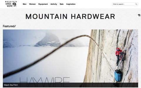 Screenshot of Blog mountainhardwear.com - Mountain Hardwear - - captured Aug. 15, 2016