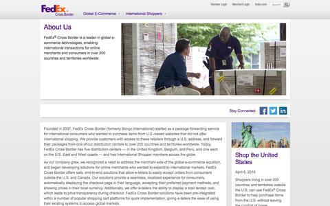 Screenshot of About Page fedex.com - About Us | FedEx Cross Border - captured Nov. 16, 2016