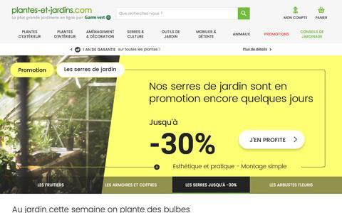 Plantes et Jardins - Votre jardinerie en ligne Gamm Vert