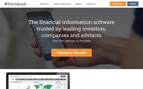 Screenshot of Products Page pitchbook.com - M&A, Private Equity and Venture Capital Software | The PitchBook Platform - captured Nov. 17, 2015