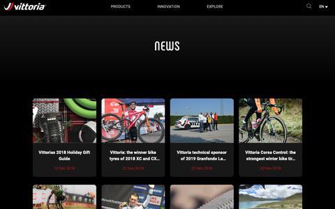 Screenshot of Press Page vittoria.com - News details   Vittoria Bicycles Tires & Wheels - vittoria.com - captured Dec. 12, 2018