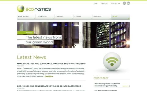 Screenshot of Press Page eco-nomics.co.uk - Eco-Nomics | Helping you reduce operating costs and energy consumption - captured Jan. 25, 2016