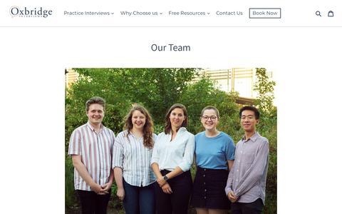 Screenshot of Team Page oxbridgeinterviews.co.uk - Meet the Oxbridge Interviews Team   Oxbridge Interviews - captured Sept. 20, 2018