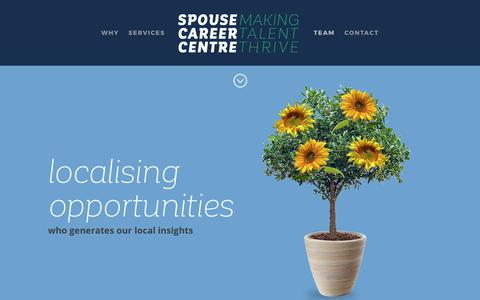 Screenshot of Team Page spousecareercentre.com - Spouse Career Centre | TEAM - captured June 15, 2017