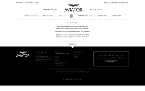Screenshot of Signup Page aviatorbytag.com - Sign Up - Aviator - captured Oct. 4, 2018