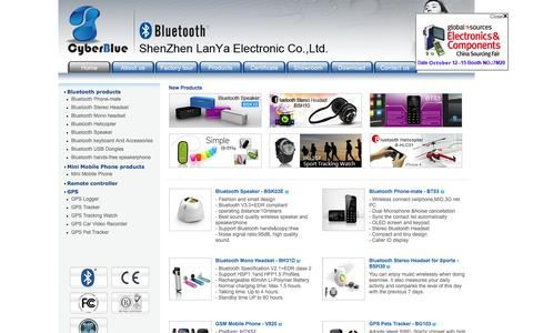 Screenshot of Home Page cyber-blue.com - Cyber-Blue International co., Ltd. - captured Feb. 2, 2016