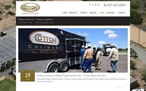 Screenshot of Press Page cottonlogistics.com - News Archives - Cotton LogisticsCotton Logistics - captured Oct. 3, 2014