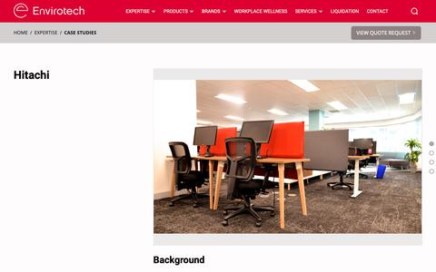Screenshot of Case Studies Page envirotechoffice.com - Case Studies - Envirotech Office - captured Sept. 28, 2018