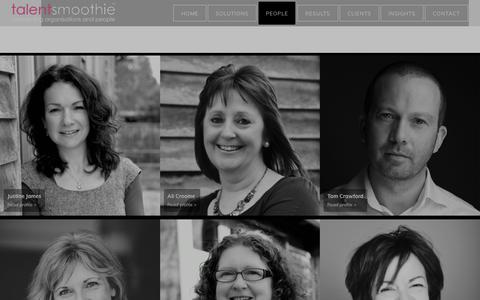 Screenshot of Team Page talentsmoothie.com - the talentsmoothie consultants | talentsmoothie - captured Sept. 21, 2018