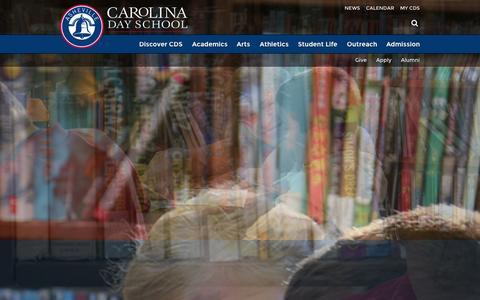 Screenshot of Home Page carolinaday.org - Carolina Day School - captured Sept. 25, 2014