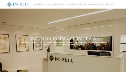 Screenshot of Home Page jmzell.com - JM Zell Partners, Ltd. - captured Oct. 4, 2017
