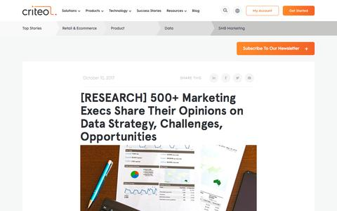 Screenshot of Jobs Page criteo.com - [RESEARCH] 500+ Marketing Execs Share Their Opinions on Data Strategy, Challenges, Opportunities | Criteo - captured Nov. 18, 2019