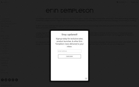 Screenshot of About Page erintempleton.com - About Us | Erin Templeton - captured July 21, 2018