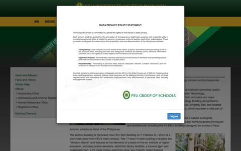Screenshot of About Page feutech.edu.ph - About Us | FEU Institute of Technology - captured Oct. 10, 2018