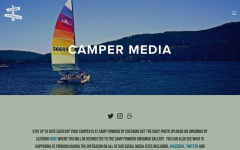 Screenshot of Press Page campfirwood.org - Camper Photos — Camp Firwood - captured July 15, 2018