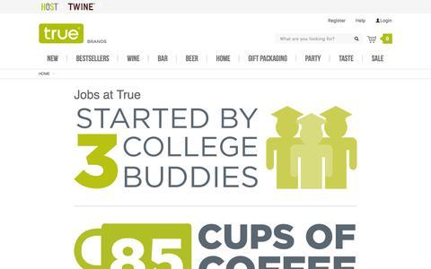 Screenshot of Jobs Page truefabrications.com captured Feb. 27, 2016