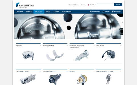 Screenshot of Products Page rheinmetall-automotive.com - Products·Rheinmetall Automotive - captured March 7, 2019