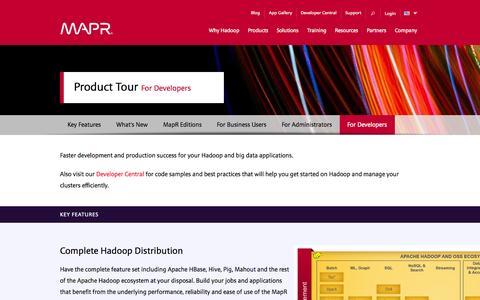 Screenshot of Developers Page mapr.com - Hadoop for Developers | MapR - captured Oct. 27, 2014