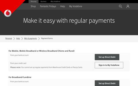 Make it easy with regular payments - Vodafone NZ