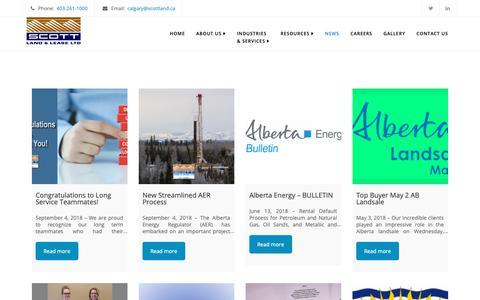 Screenshot of Press Page scottland.ca - News - Scott Land & Lease Ltd. - captured Oct. 2, 2018